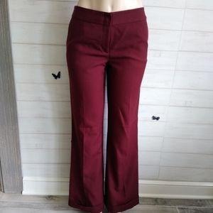J. Crew women's ankle leg burgundy wool Pants